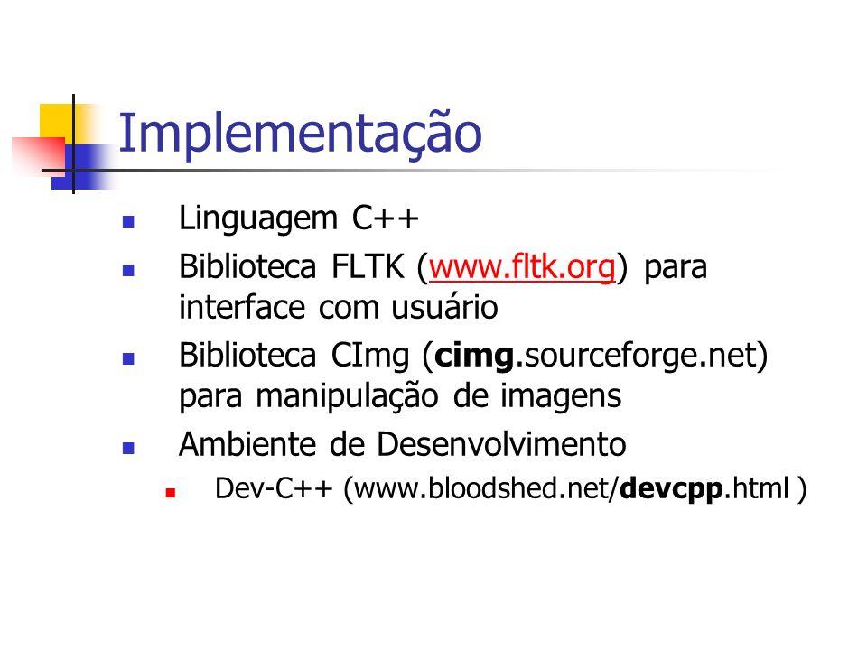 Implementação Linguagem C++