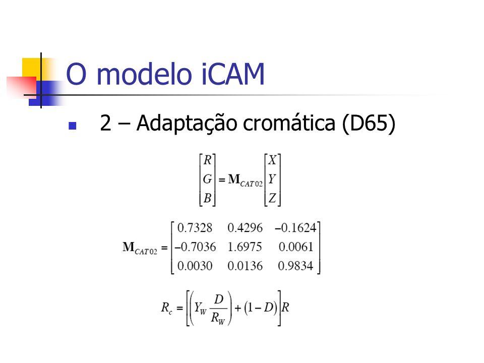 O modelo iCAM 2 – Adaptação cromática (D65)