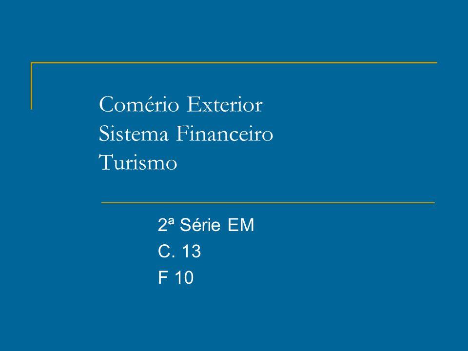 Comério Exterior Sistema Financeiro Turismo