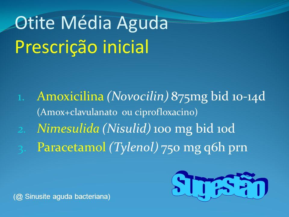 Otite Média Aguda Prescrição inicial