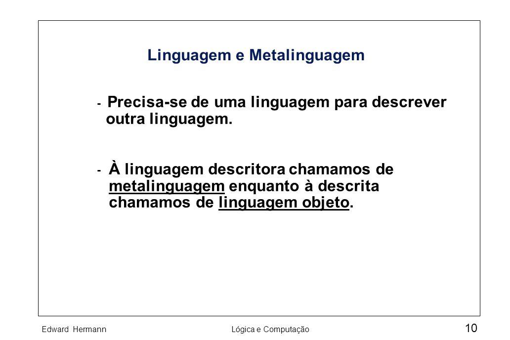 Linguagem e Metalinguagem