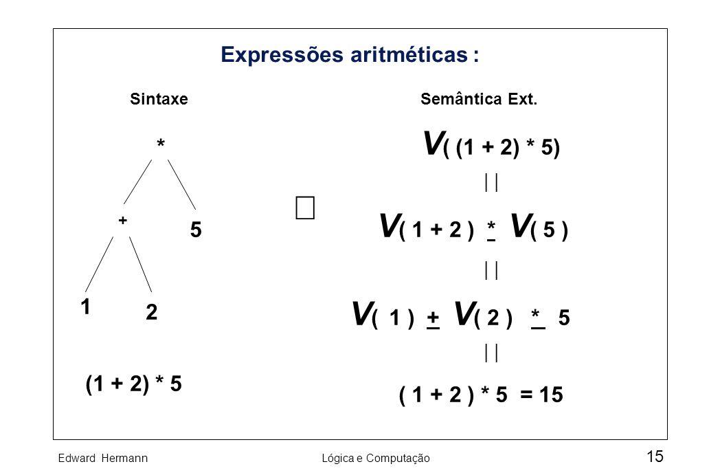 Expressões aritméticas :