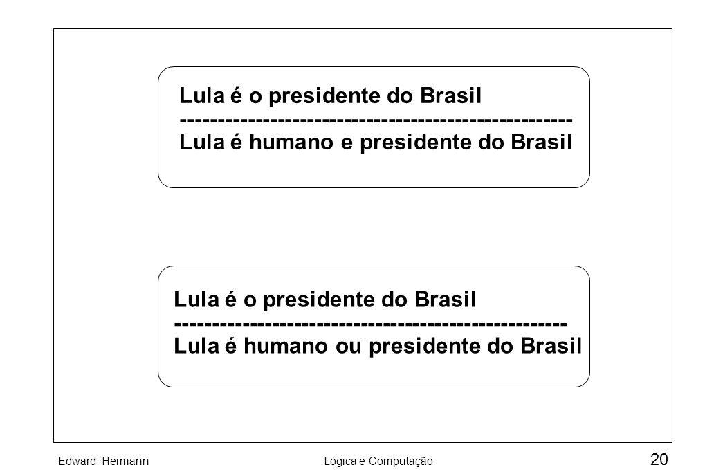 Lula é o presidente do Brasil