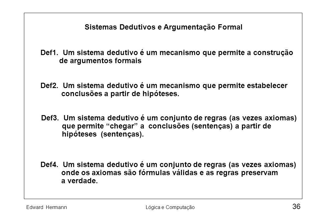 Sistemas Dedutivos e Argumentação Formal