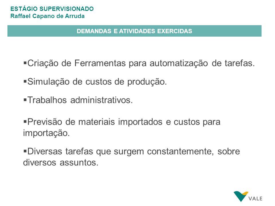 DEMANDAS E ATIVIDADES EXERCIDAS