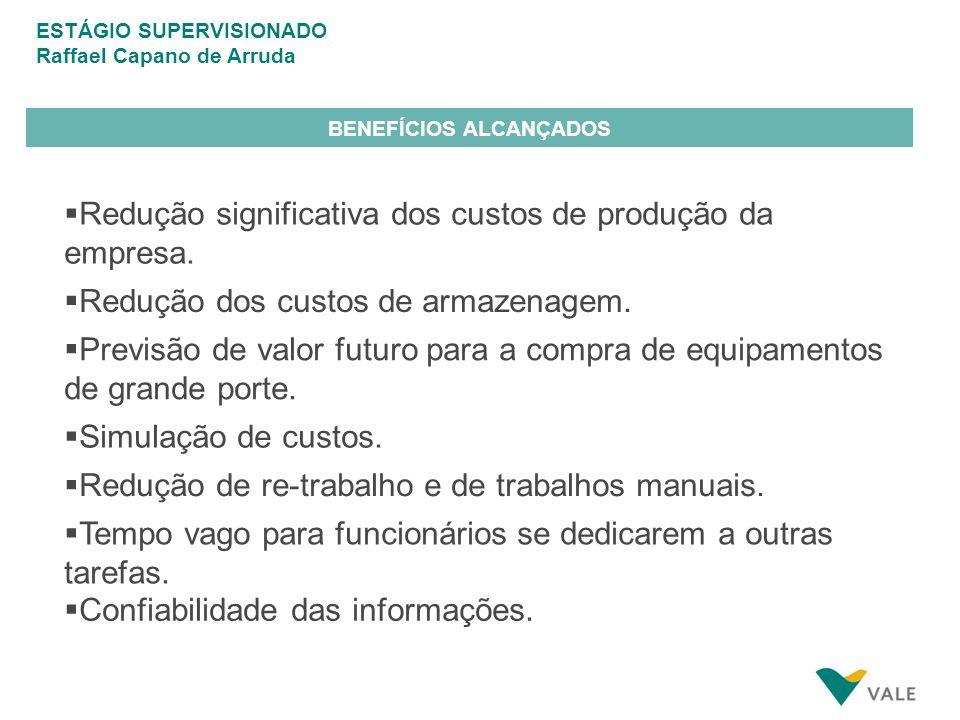 BENEFÍCIOS ALCANÇADOS