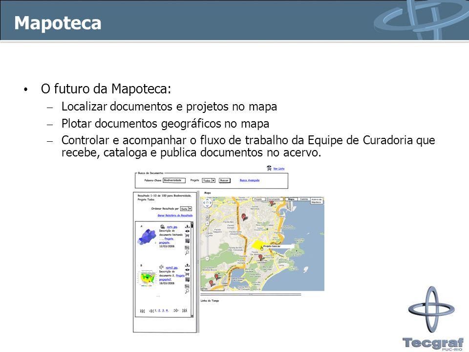 Mapoteca O futuro da Mapoteca: Localizar documentos e projetos no mapa