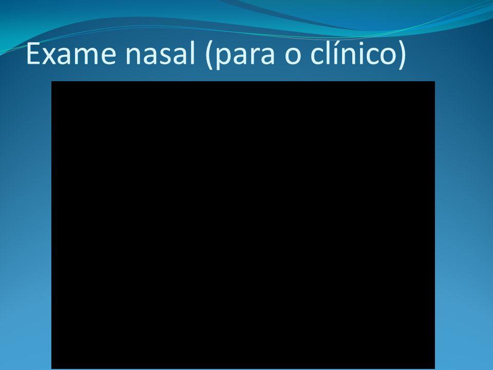 Exame nasal (para o clínico)