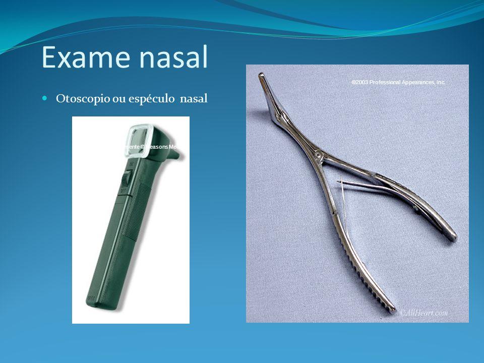 Exame nasal Otoscopio ou espéculo nasal