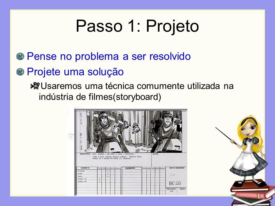 Passo 1: Projeto Pense no problema a ser resolvido Projete uma solução