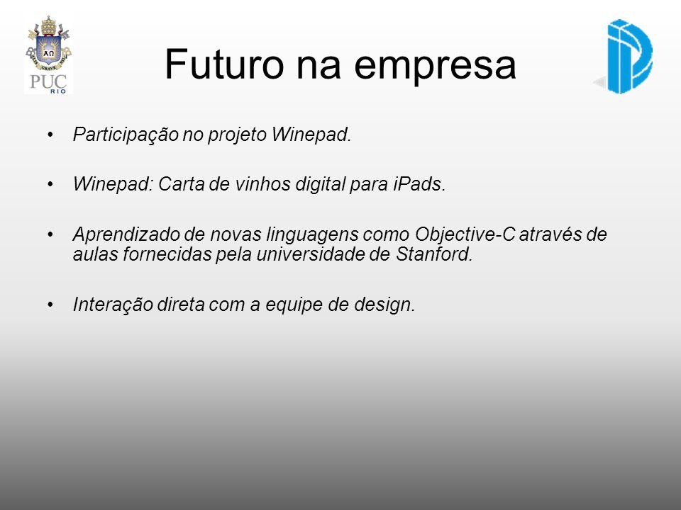 Futuro na empresa Participação no projeto Winepad.