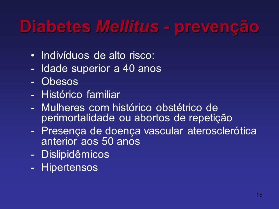 Diabetes Mellitus - prevenção