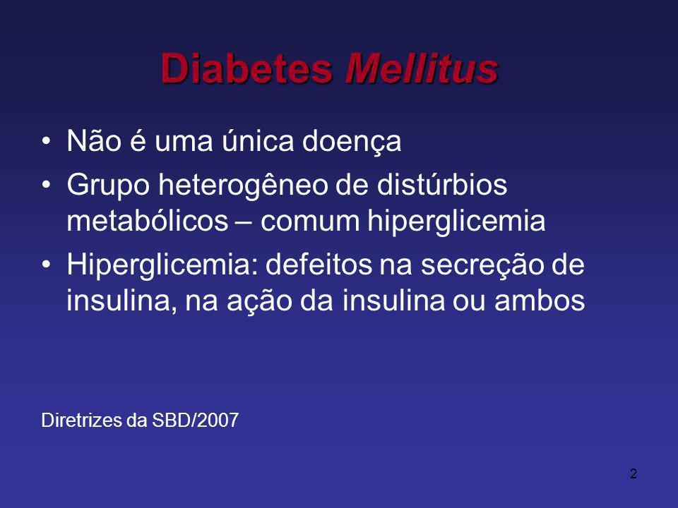 Diabetes Mellitus Não é uma única doença