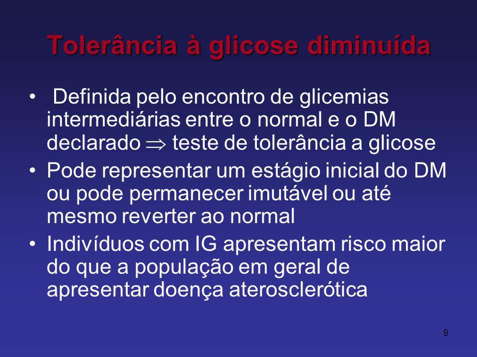 Tolerância à glicose diminuída