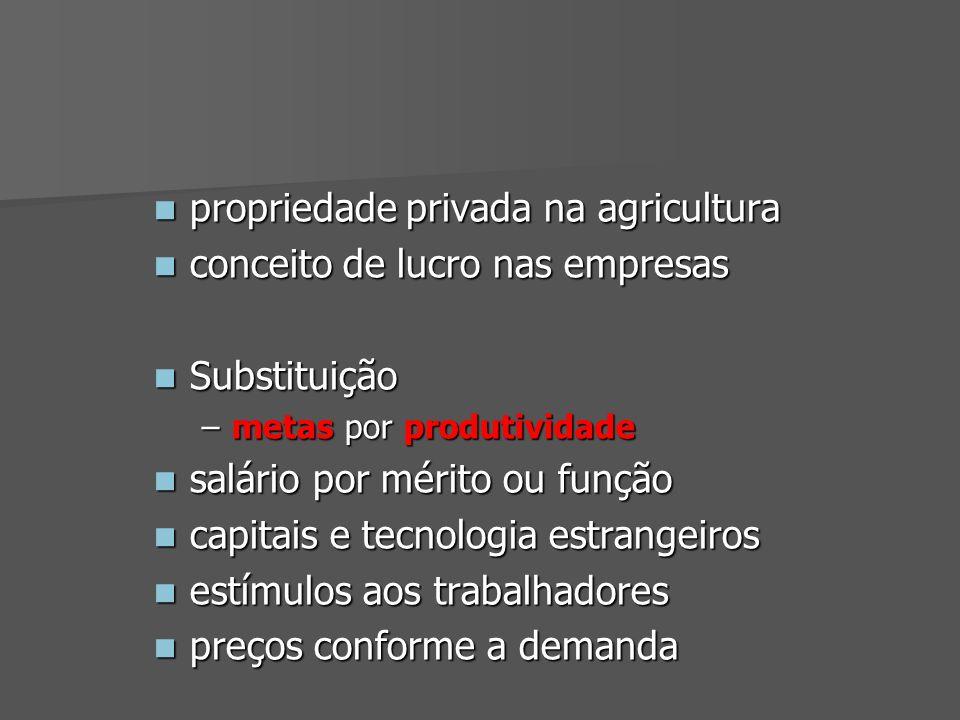 propriedade privada na agricultura conceito de lucro nas empresas