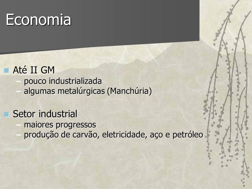 Economia Até II GM Setor industrial pouco industrializada