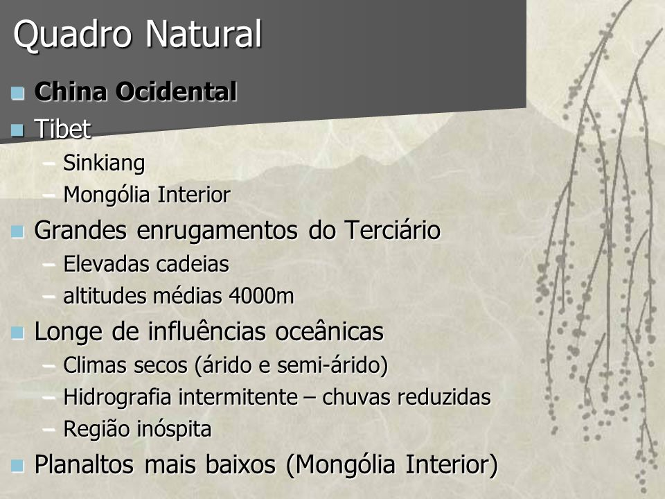 Quadro Natural China Ocidental Tibet Grandes enrugamentos do Terciário