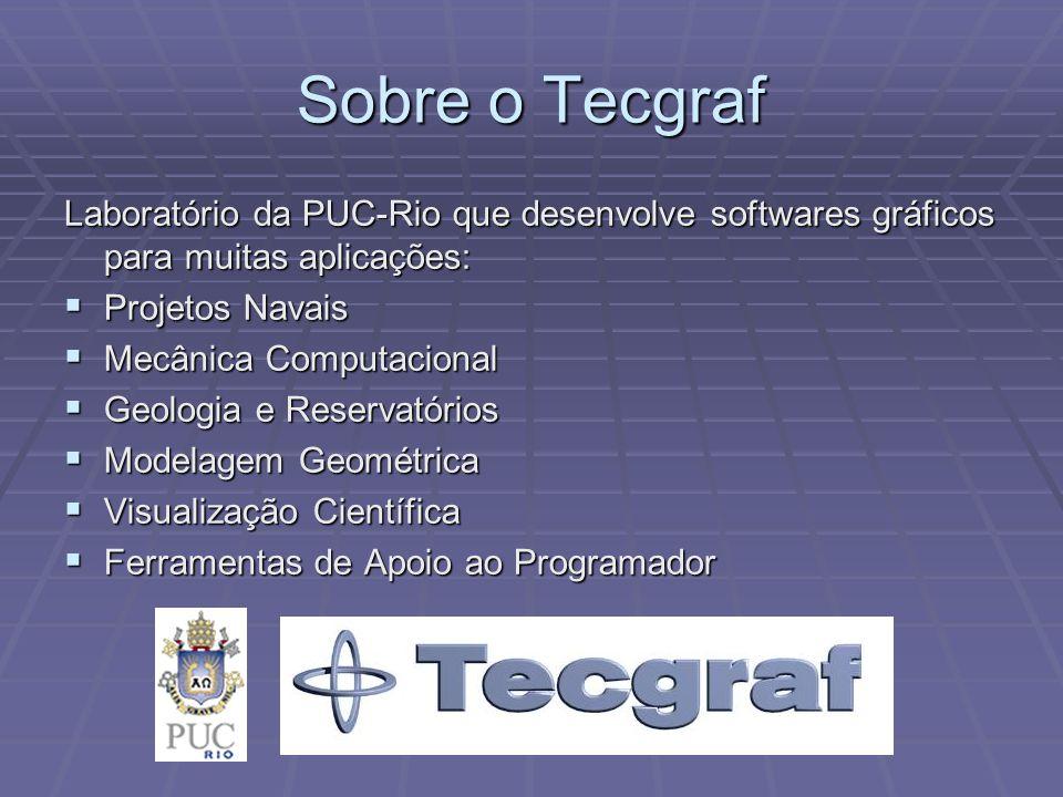 Sobre o Tecgraf Laboratório da PUC-Rio que desenvolve softwares gráficos para muitas aplicações: Projetos Navais.