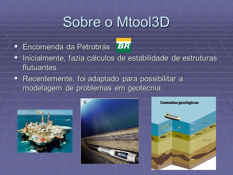 Sobre o Mtool3D Encomenda da Petrobrás