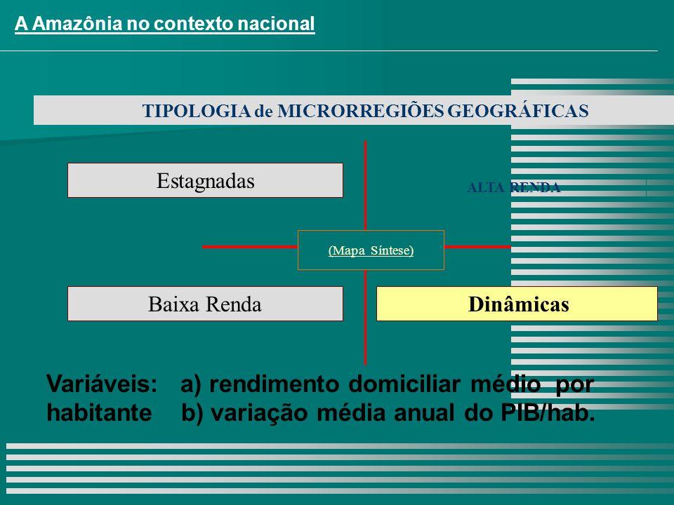 TIPOLOGIA de MICRORREGIÕES GEOGRÁFICAS