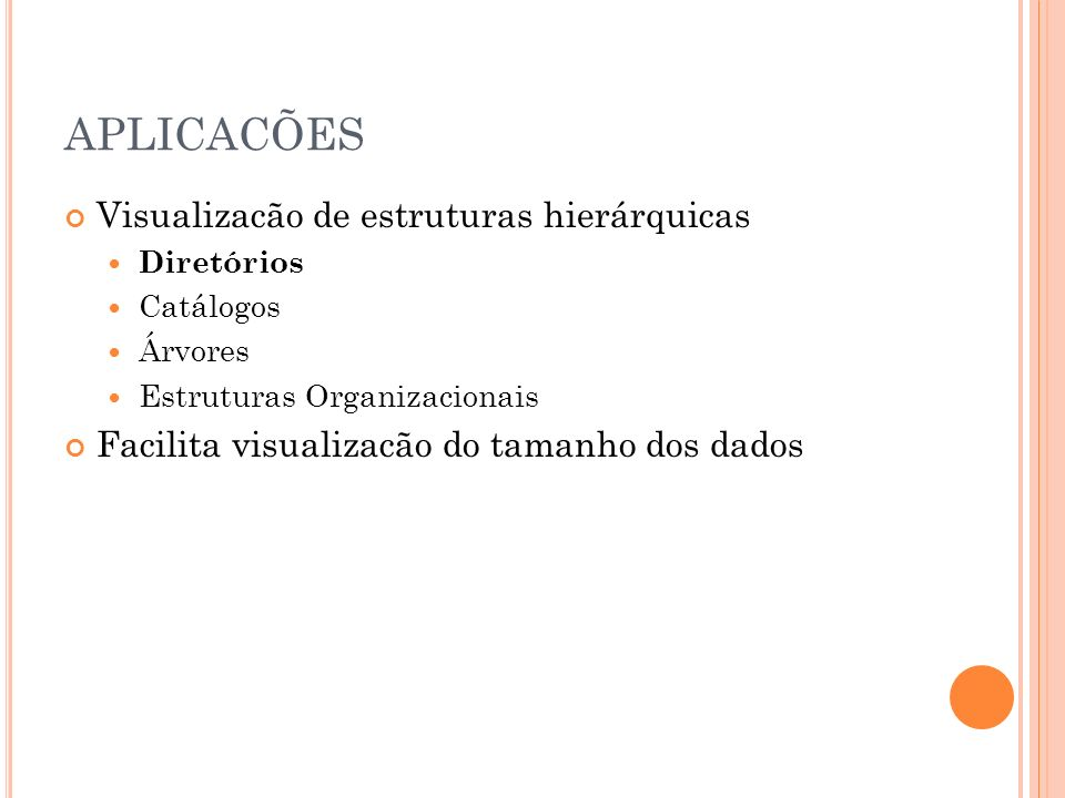 APLICACÕES Visualizacão de estruturas hierárquicas