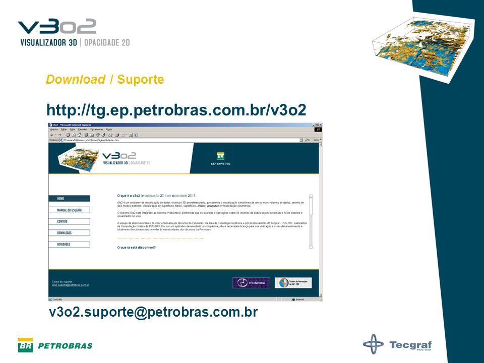 http://tg.ep.petrobras.com.br/v3o2 v3o2.suporte@petrobras.com.br
