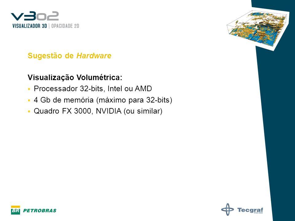 Visualização Volumétrica: Processador 32-bits, Intel ou AMD