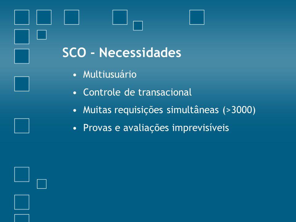 SCO - Necessidades Multiusuário Controle de transacional