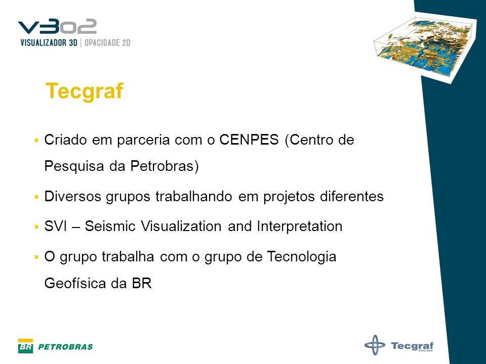 Tecgraf Criado em parceria com o CENPES (Centro de Pesquisa da Petrobras) Diversos grupos trabalhando em projetos diferentes.