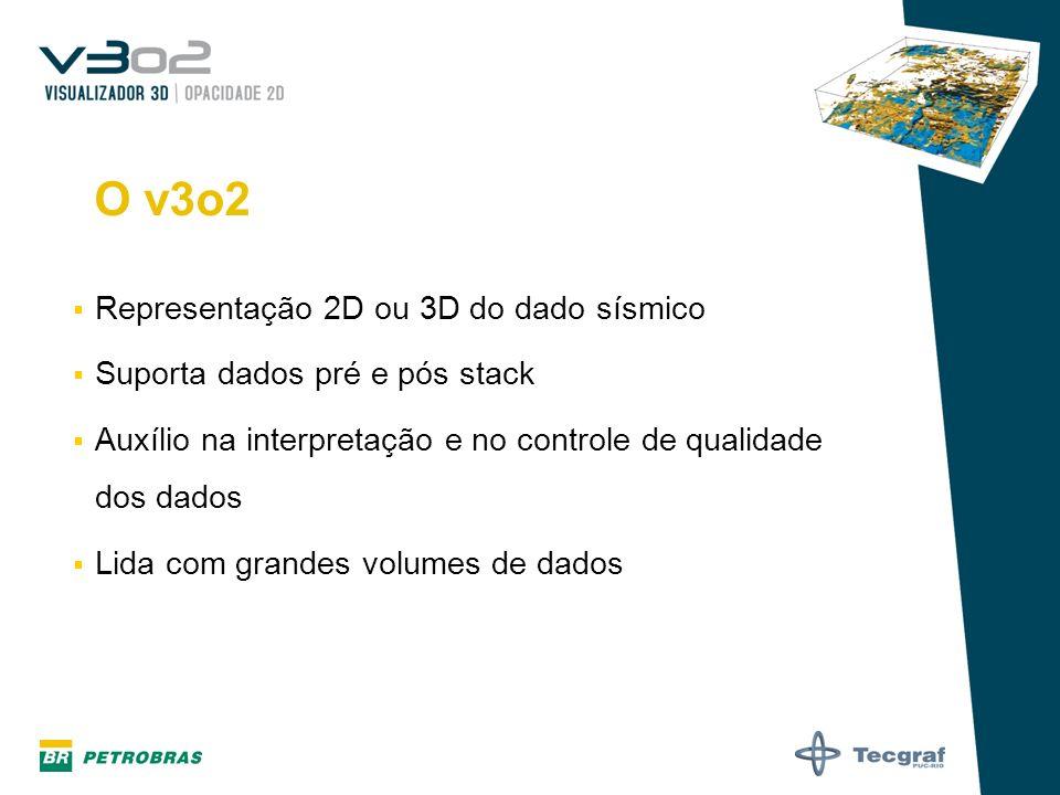 O v3o2 Representação 2D ou 3D do dado sísmico