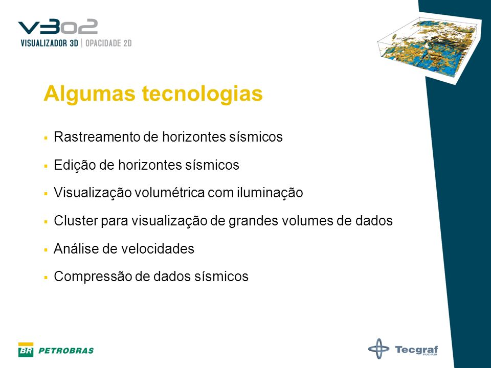 Algumas tecnologias Rastreamento de horizontes sísmicos