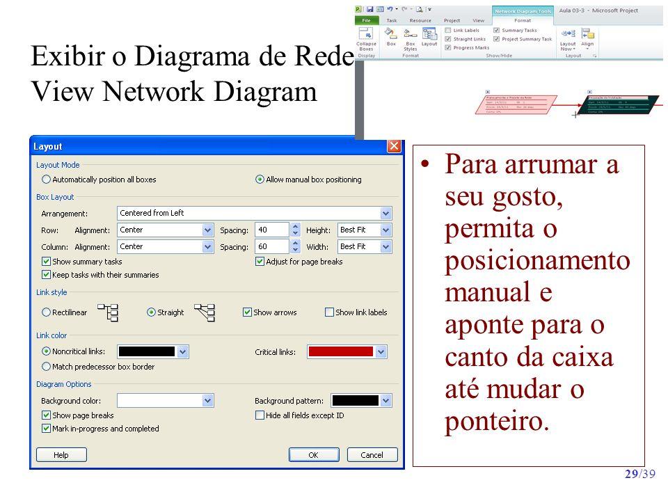 Exibir o Diagrama de Rede View Network Diagram