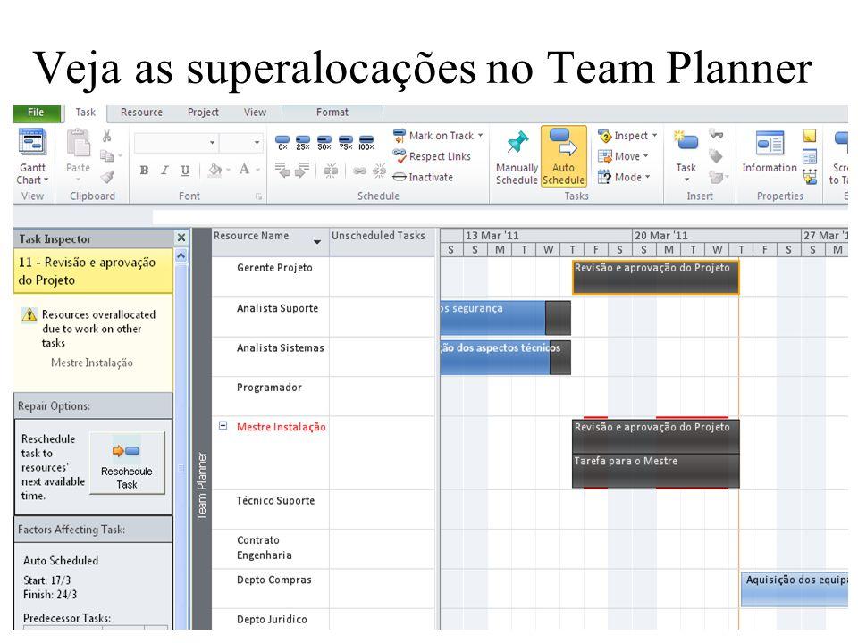 Veja as superalocações no Team Planner