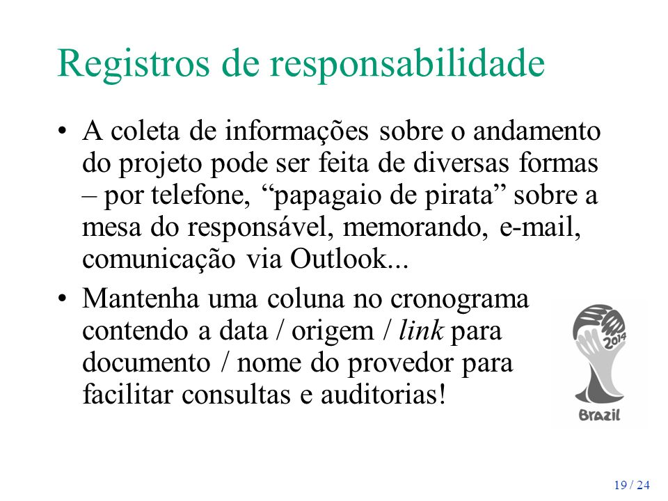 Registros de responsabilidade