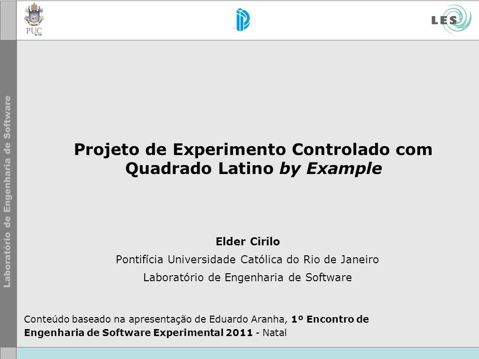 Projeto de Experimento Controlado com Quadrado Latino by Example