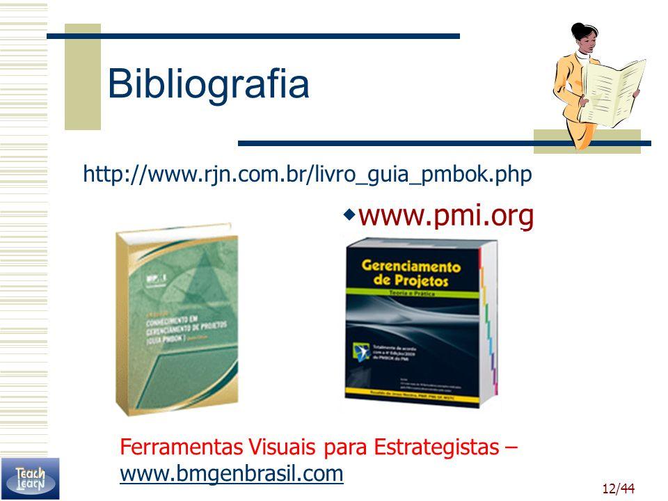 Bibliografia www.pmi.org http://www.rjn.com.br/livro_guia_pmbok.php