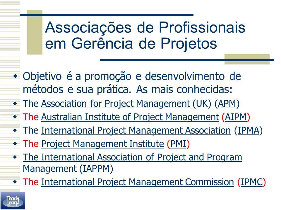 Associações de Profissionais em Gerência de Projetos