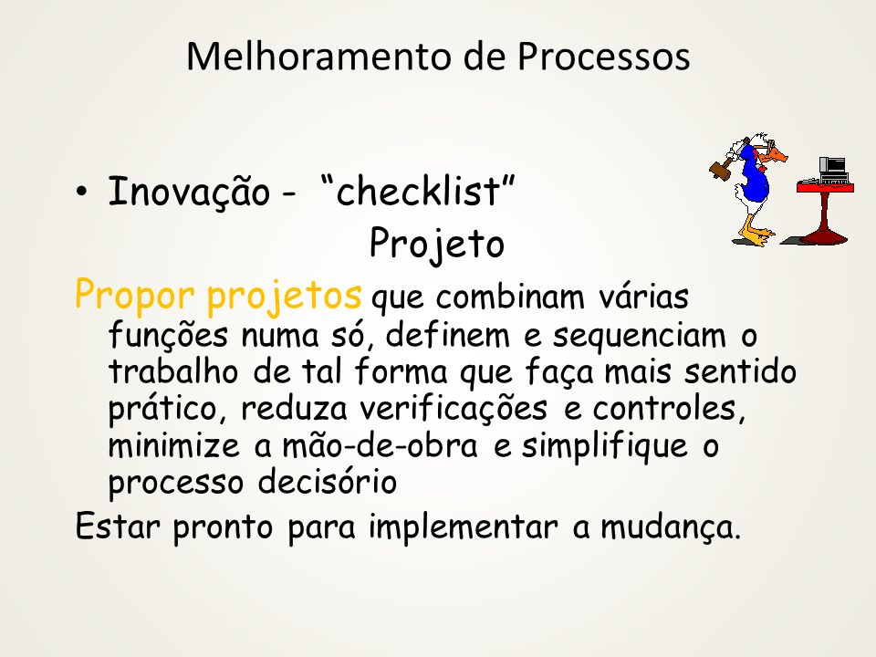Melhoramento de Processos
