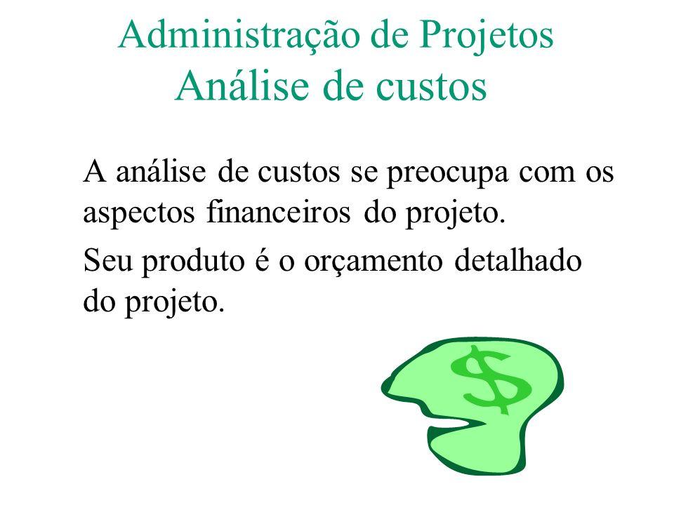 Administração de Projetos Análise de custos