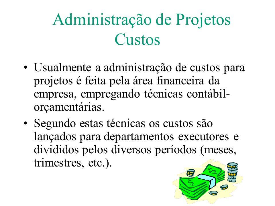 Administração de Projetos Custos