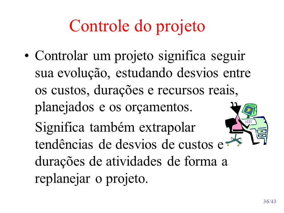 Controle do projeto