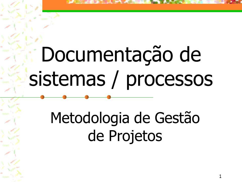 Documentação de sistemas / processos
