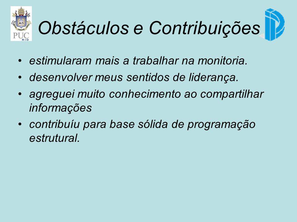 Obstáculos e Contribuições