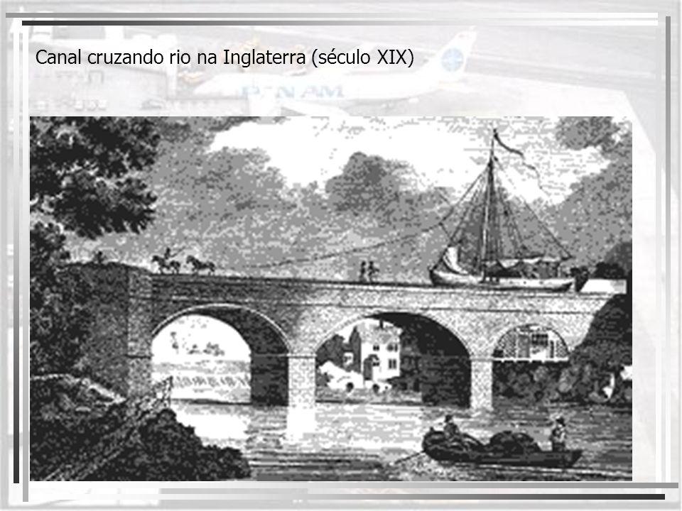 Canal cruzando rio na Inglaterra (século XIX)