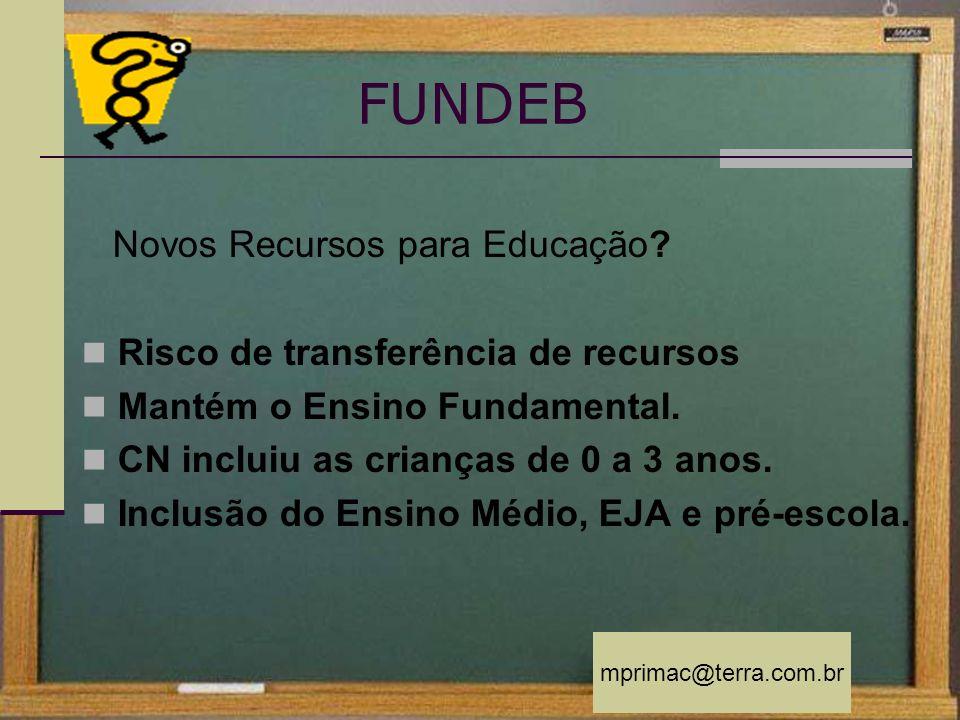 FUNDEB Novos Recursos para Educação