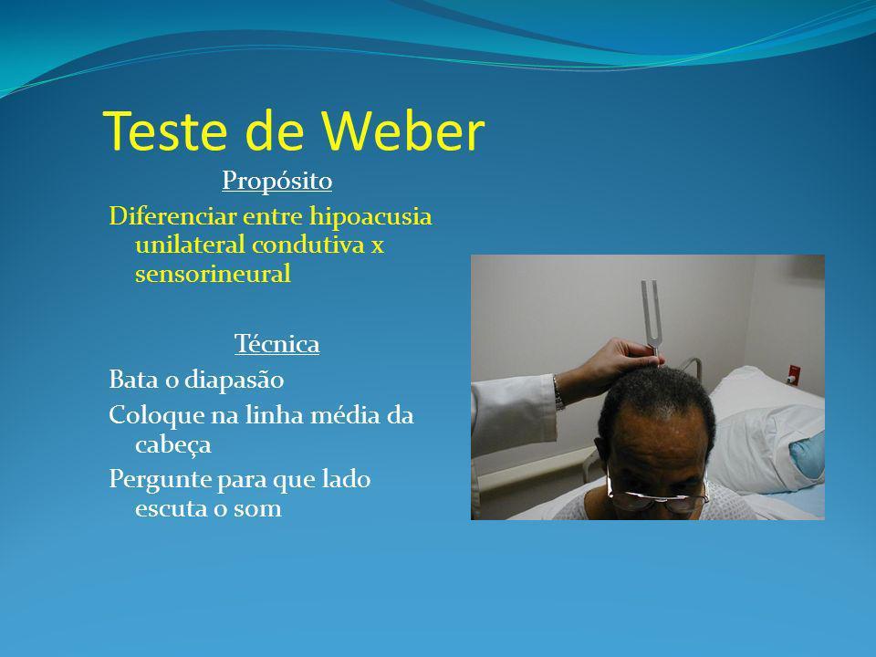 Teste de Weber Propósito