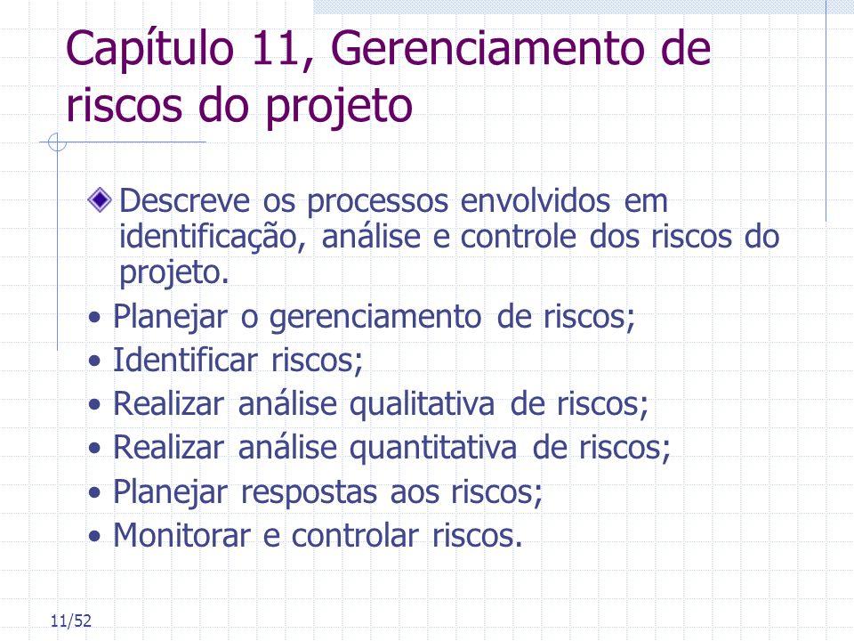 Capítulo 11, Gerenciamento de riscos do projeto