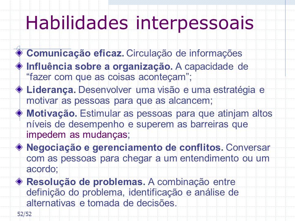 Habilidades interpessoais