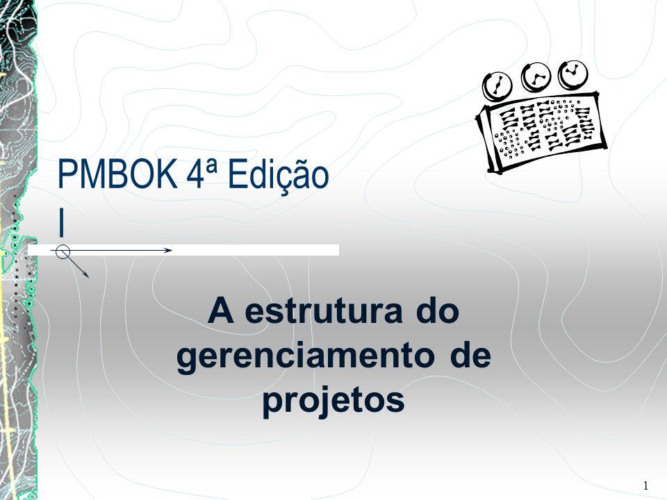 A estrutura do gerenciamento de projetos