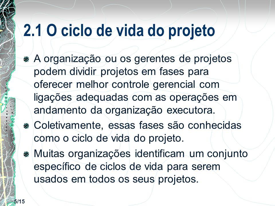 2.1 O ciclo de vida do projeto